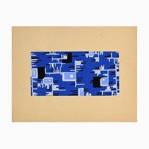 Jean Delpech, Abstrakte Komposition, Gemischte Medien, Frühes 20. Jahrhundert