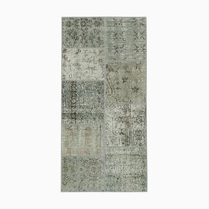 Grey Patchwork Runner Rug
