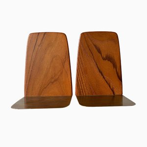 Cherry Wood Bookends by Kai Kristiansen, 1960s, Set of 2