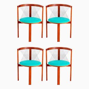 String Esszimmerstühle von Niels Jørgen Haugesen für Tranekaer, 4er Set