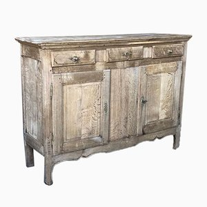 Small Antique French Bleached Oak Farmhouse Sideboard