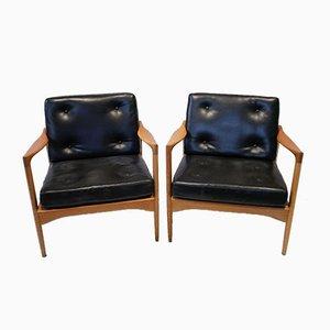 Mid-Century Oak Kandidaten Chairs by Ib Kofod Larsen for OPE, Set of 2