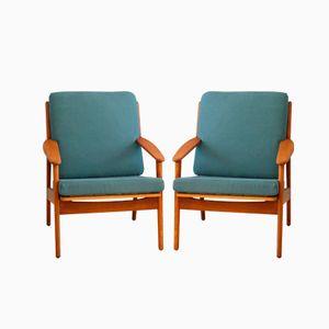 Mid Century Armlehnstuhl von Poul Volther für FDB, 1960er, 2er Set
