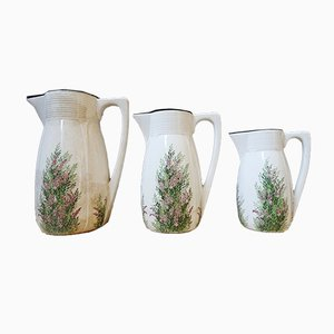 Antikes Krug Set mit Floraler Dekoration von Villeroy & Boch, 3er Set