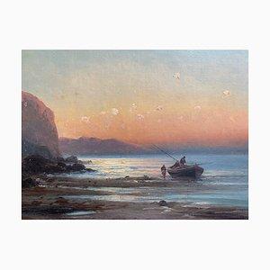 Eugenio Amus, Marina, óleo sobre lienzo