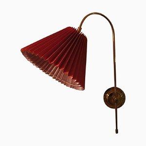 Drehbare Dänische Verstellbare Messing Wandlampe, 1950er
