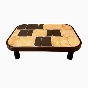 Mid-Century French Ceramic Shogun Coffee Table by Roger Capron, 1960s
