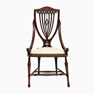 Antique Edwardian Inlaid Side Chair