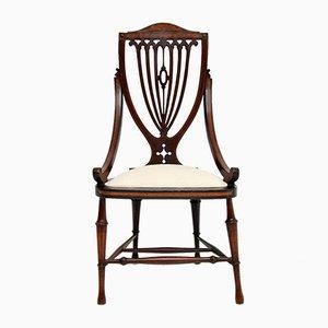 Antique Edwardian Inlaid Side Chair