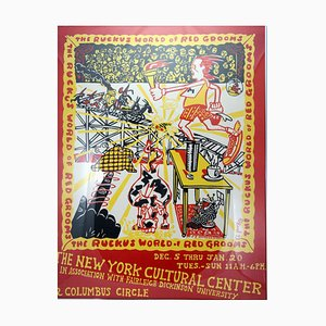 The Ruckus World of Red Grooms Exhibition Poster, New York, 1973