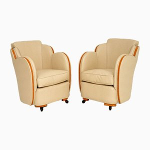 Art Deco Cloud Back Armchairs by Harry & Lou Epstein, 1920s, Set of 2