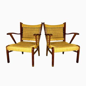 Vintage Italian Rope Patio Lounge Chairs, 1970s, Set of 2