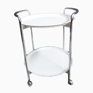 White & Chrome Serving Trolley from PK Erzeugnis, 1974