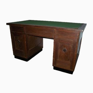 Antique Geometric Secession Desk from Möbelfabrik A. Nagel Wien