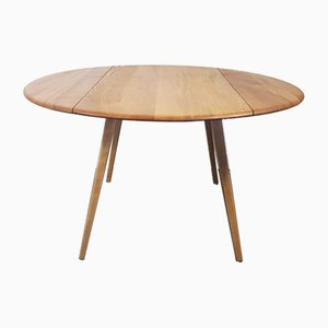 Round Drop Leaf Dining Table by Lucian Ercolani for Ercol, 1960s