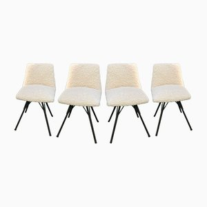 Mid-Century French Dining Chairs by Gérard Guermonprez for Magnani editions, 1950s, Set of 4
