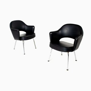 Executive Chairs with Armrests by Eero Saarinen for Knoll De Coene, 1950s, Set of 2