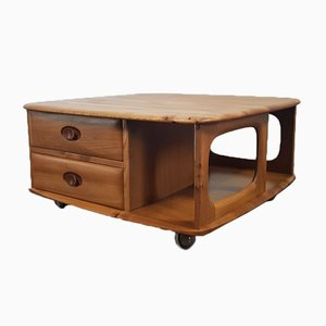 Vintage Pandora's Box Coffee Table by Lucian Ercolani for Ercol