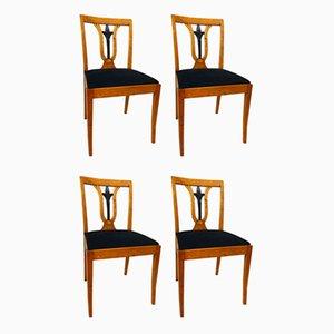 Art Deco Stühle, 1930er, 4er Set