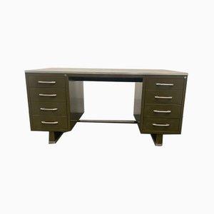 Lackierter Metall Schreibtisch mit Laminierter Tischplatte von Carlotti, 1950er