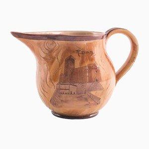 Glazed Terracotta Mug Depicting Basilica of St Francis of Assisi, 1950s