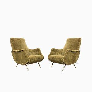 Italian Lady Lounge Chairs by Marco Zanuso, 1960s, Set of 2