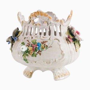 Centrotavola Art Nouveau in ceramica antica, inizio XX secolo