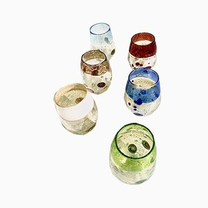 Vintage Italian Murano Botticelli Drinking Glasses by Mar'yana Iskra for Ribes, 2004, Set of 6