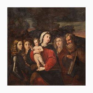 Jungfrau mit Kind und Heiligen, 17. Jahrhundert