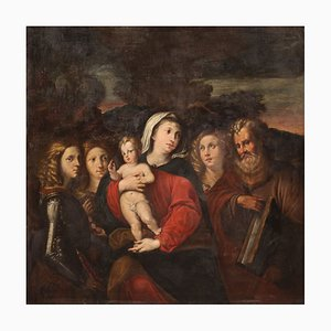 Vierge à l'Enfant et aux Saints, 17ème Siècle