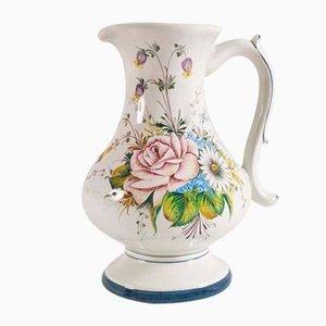 Antique Art Nouveau Ceramic Bassano Jug, 1900s