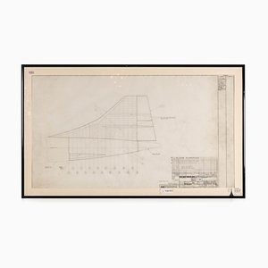 Concorde Design Drawing, England, 1960s