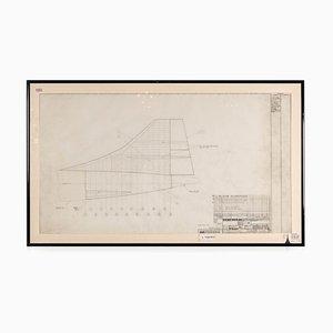 Concorde Design Zeichnung, England, 1960er