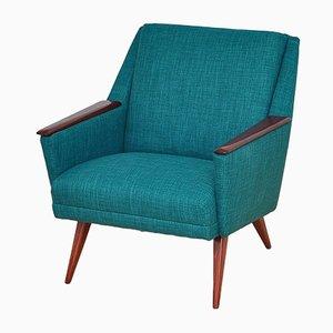 Mid-Century Danish Turquoise Armchair, 1960s