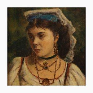 Portrait d'une Jeune Femme Napolitaine, 20ème Siècle