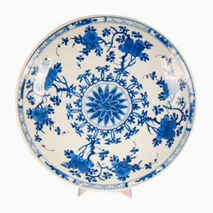 Antique Chinese Kangxi Period Blue & White Porcelain Charger Plate, 1600s
