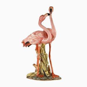 Mid-Century Italian Ceramic Flamingo Figurine
