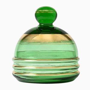 Green Glass Box from De Rupel, 1930s