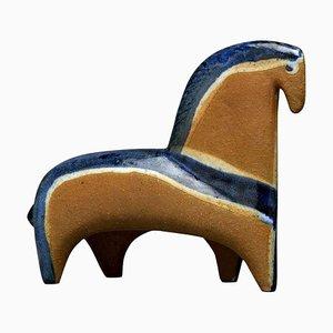 Schwedisches Pferd aus Steingut von Lisa Larson für Gustavsberg, 1960er