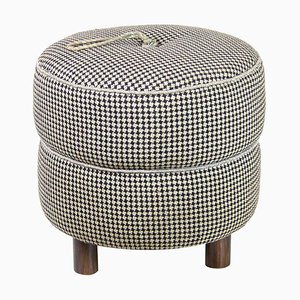 Art Deco Pouf Stool by Jindrich Halabala, 1940s