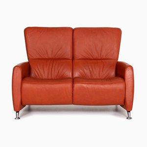 Cumuly Orange Leather Sofa from Himolla