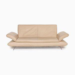 Rossini Sofa aus cremefarbenem Leder von Koinor