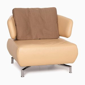 Leather Armchair in Beige Fabric from Koinor