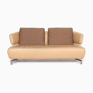 Beige Leather Sofa from Koinor