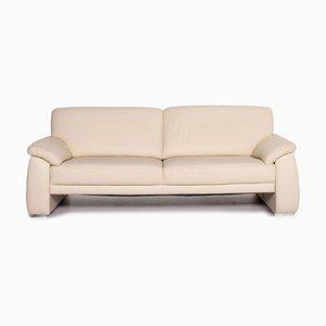 Mondo Cream Leather Sofa