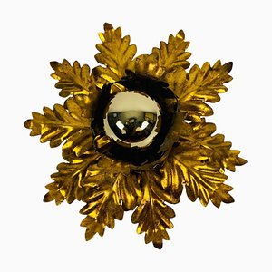 Golden Florentine Flower Shape Flushmount from Banci, Italy, 1970s