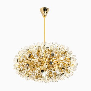 Large Gold-Plated Chandelier by Emil Stejnar for Rupert Nikoll, Vienna