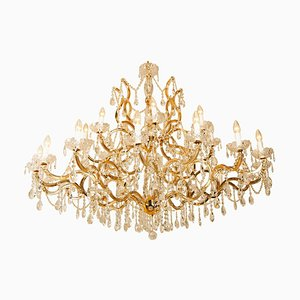 Large Gold Plated Maria Theresa Chandelier
