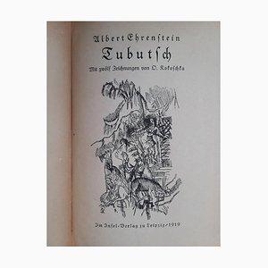 Oskar Kokoschka, Tubutsch, Vintage Rare Book Illustrated, 1919