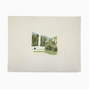 Impression Giorgio Morandi, Paysage, Vintage Offset, 1973